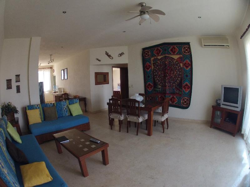 Dining room & living room - By The Sea (Private Bedroom)....Playa Del Carmen (Downtown) - Playa del Carmen - rentals
