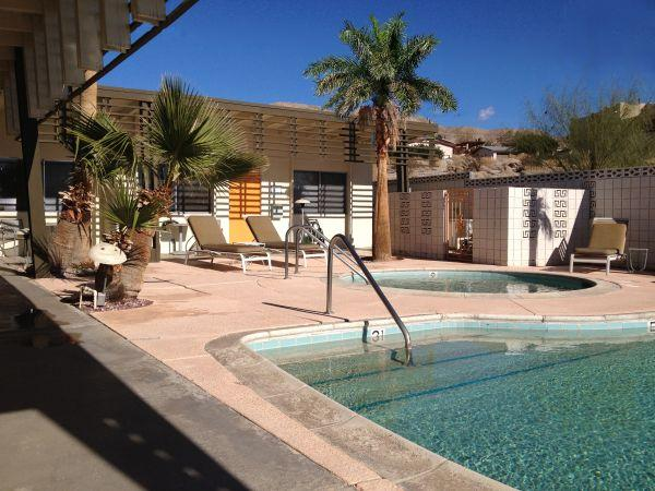 Pool area - 1960s California Desert/Spa 1BR, #5 - Desert Hot Springs - rentals