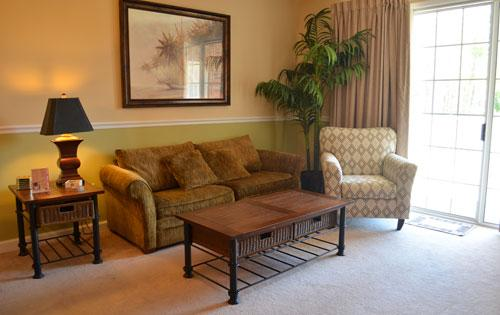 Living Room and Balcony - Wonderful 2BR Villa @ Barefoot, WiFi, Great Golf! - North Myrtle Beach - rentals