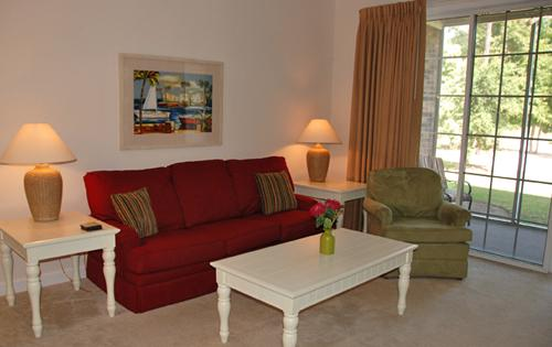 Living Room and Sitting Area - Relax @ Barefoot Resort! 2BR golf villa! - North Myrtle Beach - rentals