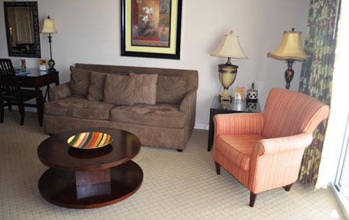 Roomy living area with balcony access - Pristine 3BR Yacht Club 1-1003 @ Barefoot Resort - North Myrtle Beach - rentals