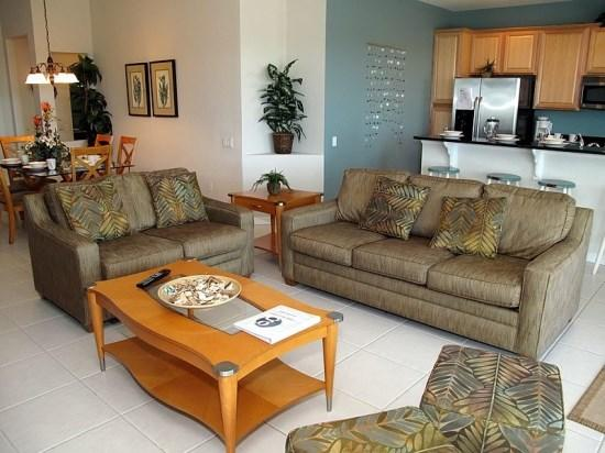 Living Room - WH4P2568AB Family Vacation Haven in a Kissimmee Resort Community - Orlando - rentals