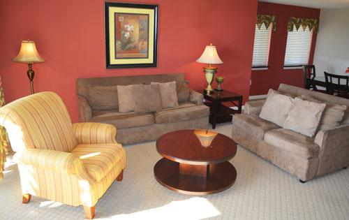 Spacious living room with patio access - Huge 3BR luxury villa @ Yacht Club! 1-105 3BR - North Myrtle Beach - rentals