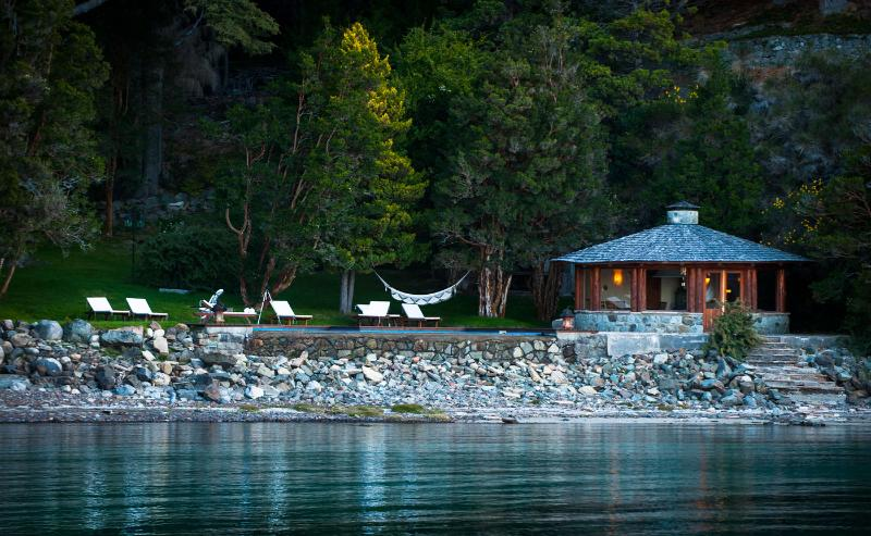 Villa Millaqueo - A View of the Guest Cottage from the Lake - Idyllic Argentine Private Villa! Lake Front Luxury - San Carlos de Bariloche - rentals