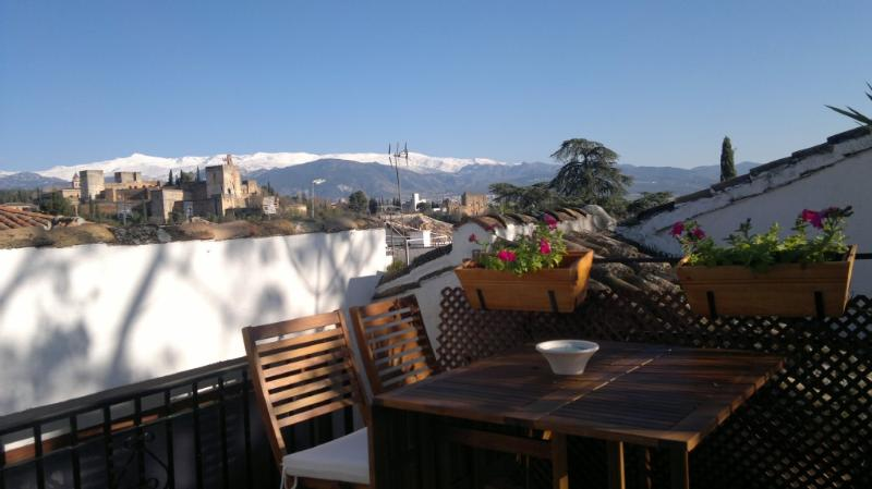terrace - ALBAICÍN HOUSE PARKING FREE. ALHAMBRA VIEWS. WIFI - Granada - rentals