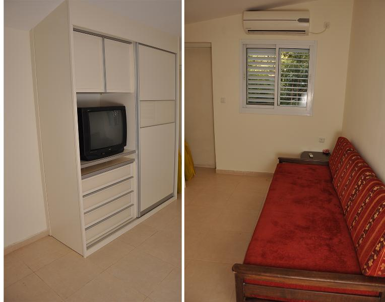 Sofa, Clothes Cupboard including TV - Nice Studio Suite near Tel-Aviv, Airport & Sheba - Tel Aviv - rentals