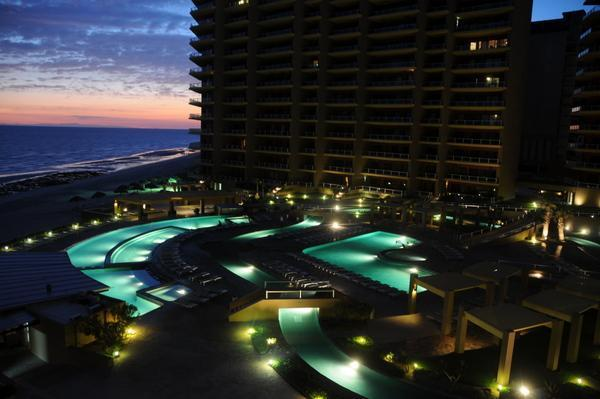Pools at night - Luxury Condo, Ocean View overlooking Sea of Cortez - Puerto Penasco - rentals
