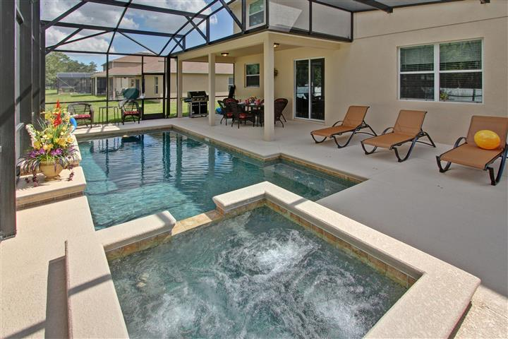 Screened heated pool and spa with loungers - New opening 8BR/5BA pool home,Near Disney,Seaworld - Kissimmee - rentals