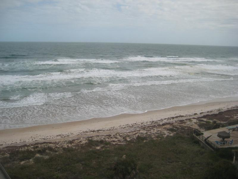 View from Living Room - Ormond By The Sea Ocean Front Condo - Ormond Beach - rentals