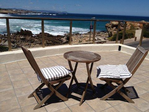 terrace leading from the main bedroom - Easy seaside living in beach villa: Onrus - Hermanus - rentals