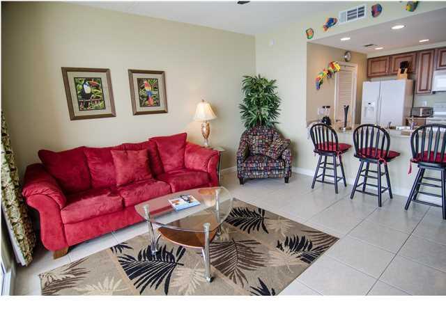 Living Room - Fabulous Splash Resort with Endless Fun &Beach Svc - Panama City Beach - rentals