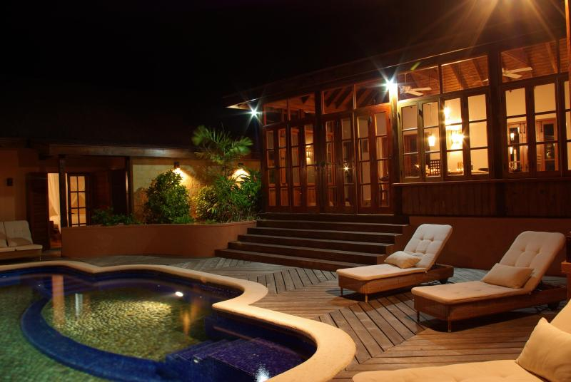 Tree Frog Villa - Pool Deck Night - Tree Frog Villa - 5 bedroom Luxury Villa - Crochu - rentals