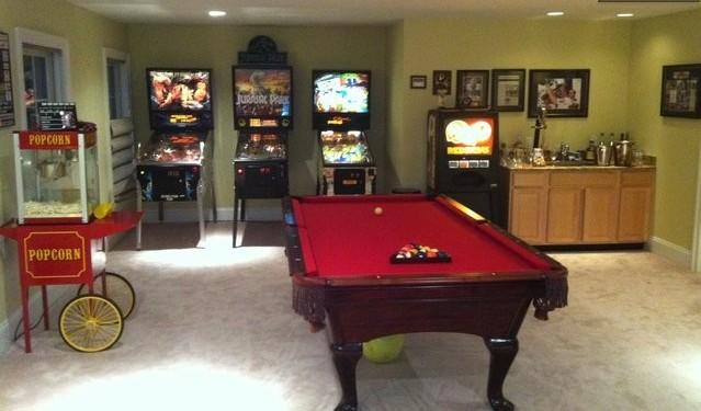 Entertainment Area complete with Pool Table, Pin Ball Machines fussball, popcorn machine & more! - Celebration™ Retreat! a fun venue in Wine Country - Front Royal - rentals