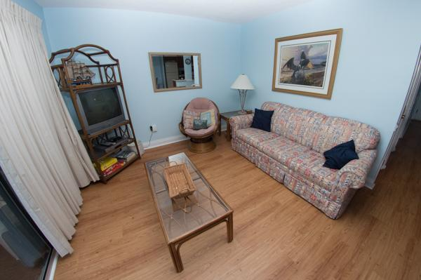 Living room with hardwood floors - WONDERFUL 2BR @ MB RESORT, POOLS/WIFI/MORE - B539 - Myrtle Beach - rentals