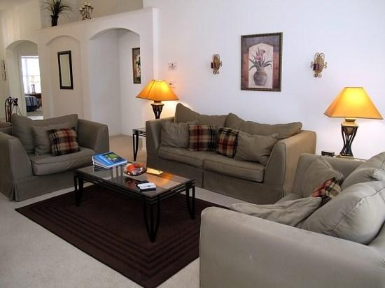 Living Area - WP4P2216WPW Family Vacation Haven in Windsor Palms Resort - Orlando - rentals