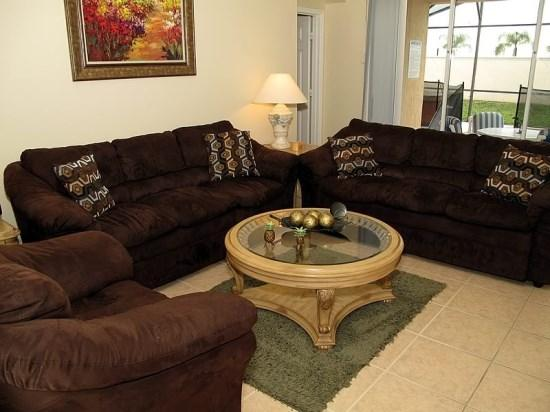 Living Room - WP4P8190FPW Nicely Equipped Villa in Kissimmee with Portable Jacuzzi - Orlando - rentals