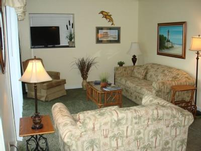Well-appointed living room - FAMILY VACATION ON BEACH, GYM/POOLS/WIFI B309 2BR - Myrtle Beach - rentals