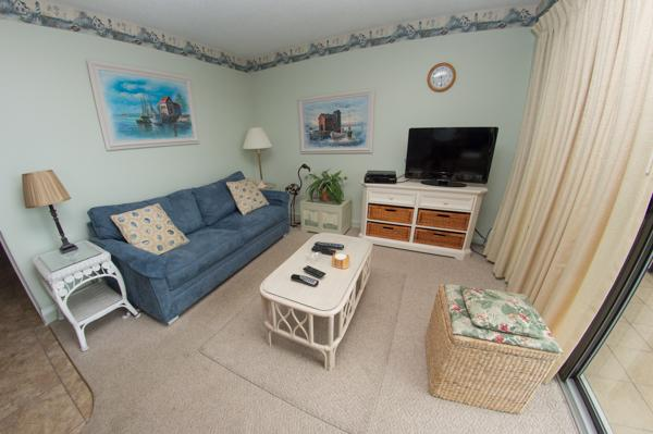 Master bedroom with sleeper sofa - STAY ON THE BEACH @ MB RESORT! POOLS/WIFI B442 2BR - Myrtle Beach - rentals