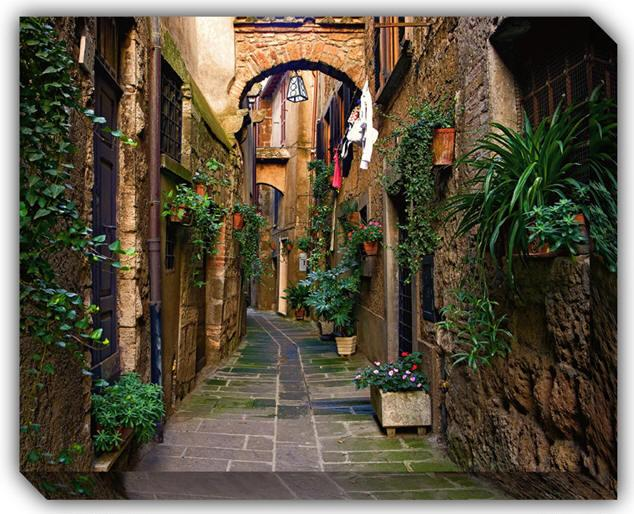 a street in Orte - Orte -a beautiful medieval hilltown 35 min to Rome - Orte - rentals