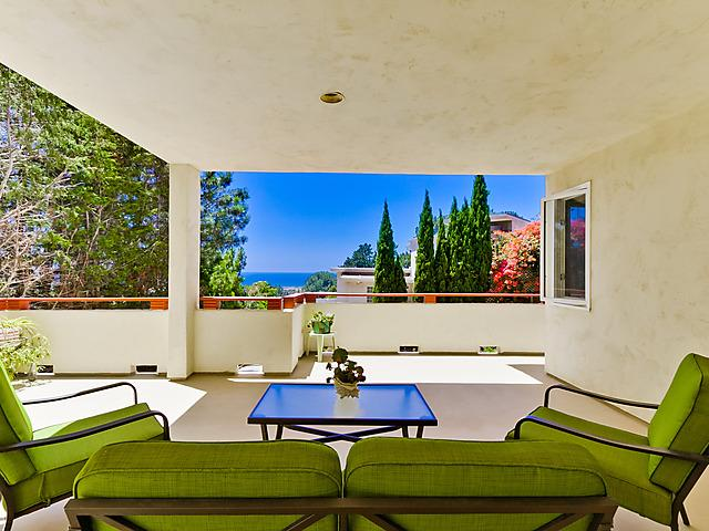 Private deck with ocean view - Guest Studio Ocean & Lagoon Views - Del Mar - rentals