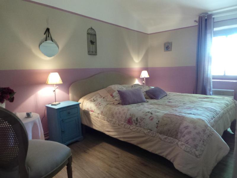 large queen size bed - my boudoir between Saint Rémy de Provence and Arles at the foot of les Baux de Provence - Le Paradou - rentals