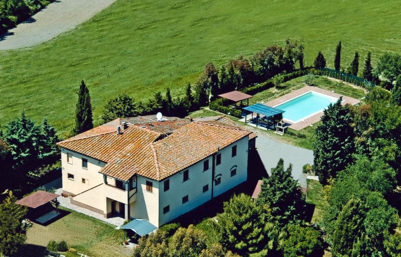 Casa Rossa - View from the sky - Agriturismo Casa Rossa - Lavanda - Peccioli - rentals