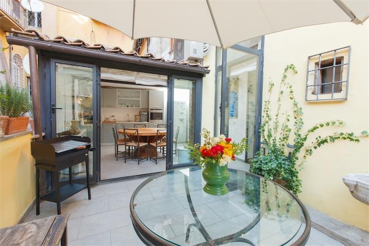Terrace facing kitchen - Ripa Terrace Apartment - Rome - rentals