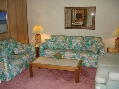 Living room with sleeper sofa - STAY @ MB RESORT! POOLS/LAZY RIVER/WIFI! A138 2BR - Myrtle Beach - rentals