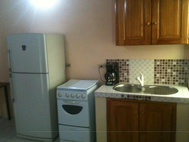 full kitchen refrigerator, stove oven etc - Khanla Company 1 bedroom apartment - Chaguanas - rentals
