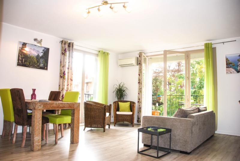 A large living room - Historical centre Aix -Spacious Light Apartment - Aix-en-Provence - rentals