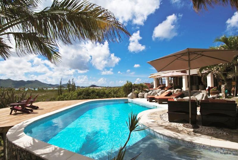 SPECIAL OFFER: St. Martin Villa 156 A Superb Waterfront Three Bedroom Villa Located On The Cliffside In Terres Basses With Spectacular Views Of The Ocean. - Image 1 - Terres Basses - rentals