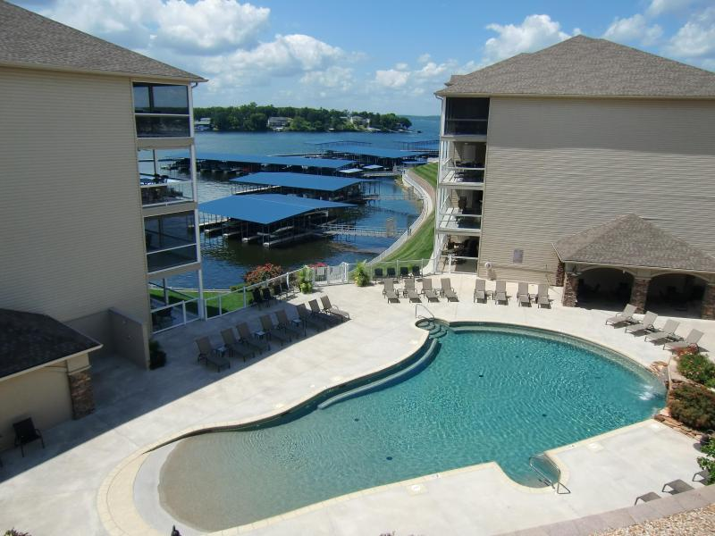 Zero entry pool is just steps away from our unit! - Lands End Two Bedroom - Book Now for Summer! - Osage Beach - rentals