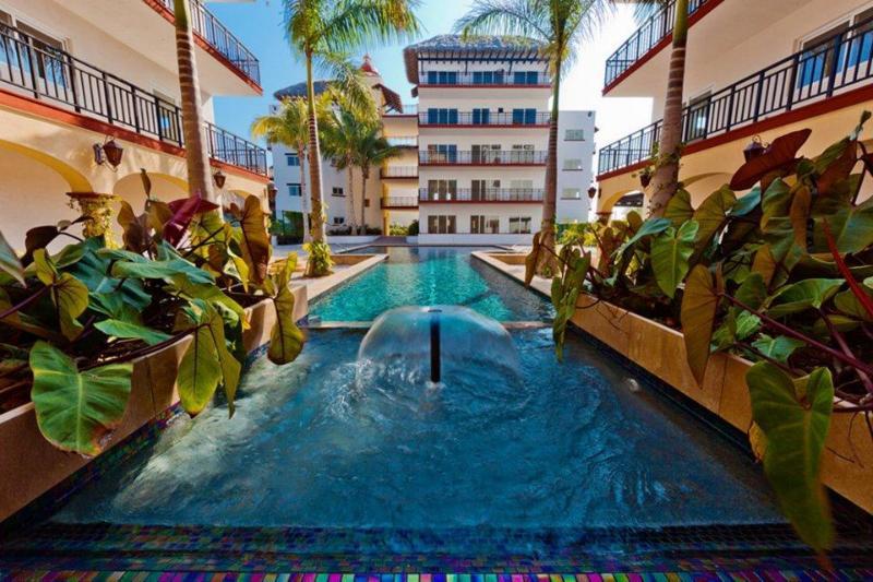 Courtyard and lap pool - Steps to Surf & Sand in beautiful Punta Mita! - Punta de Mita - rentals