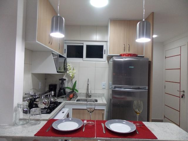 Cozinha com todos utensílios e eletrodomésticos - FLAT LUXO PONTA NEGRA - Natal - rentals