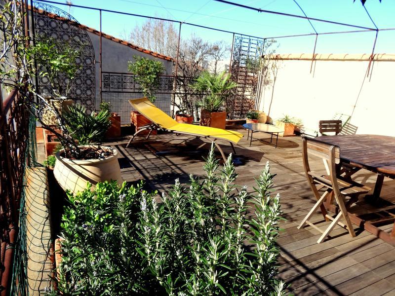 Roof terrace - Ostellerie del Capel Roge - Montpellier - rentals