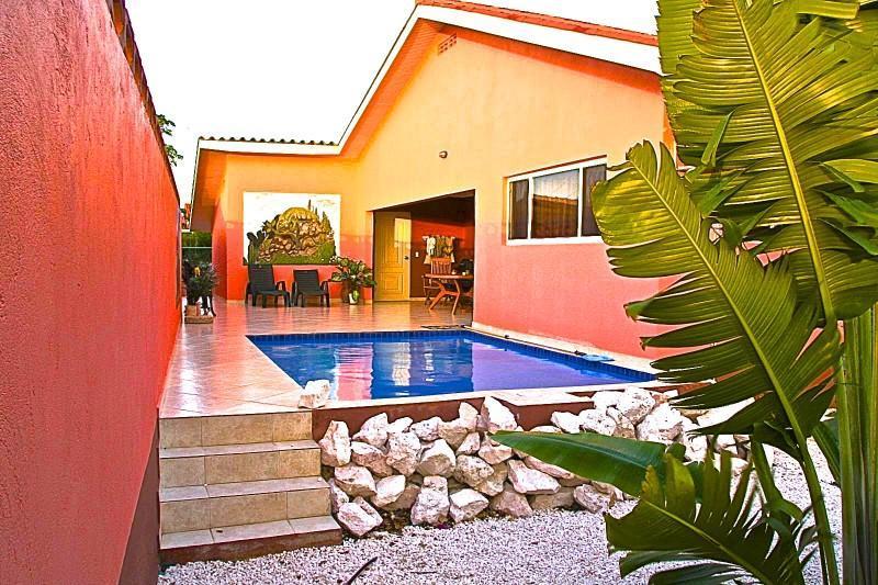 Villa Iguana, zwembad met 100% privacy en voordelige huurauto, centraal op Curacao - Villa Iguana, prive zwembad, huurauto, centraal - Curacao - rentals