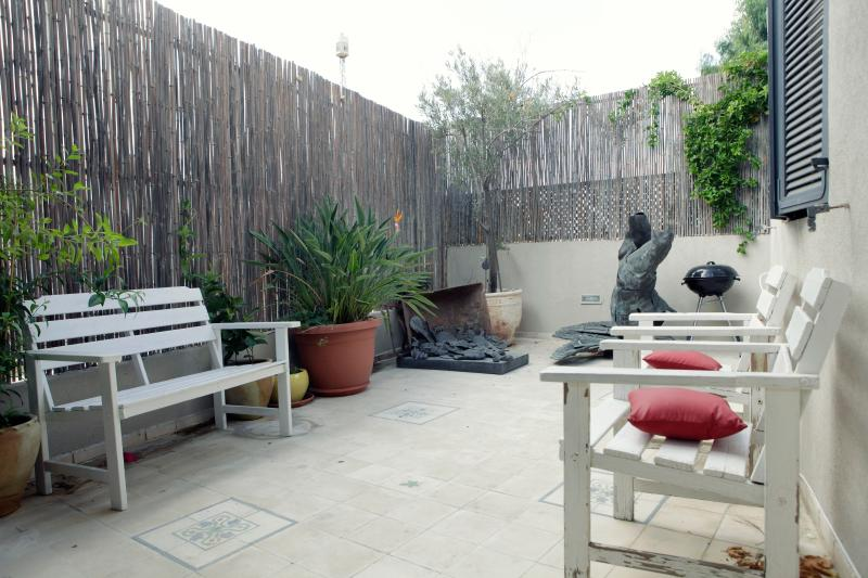Outdoor Terrace - 3 Storey Neve Tzedek Condo - 3 Bedroom Apartment - Tel Aviv - rentals