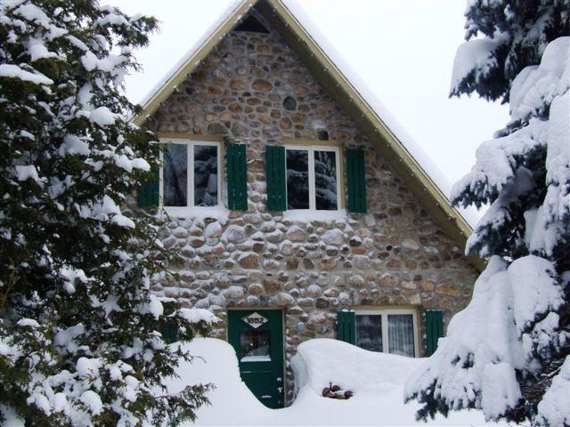 in the snow / dans la neige - Cozy cottage at Mont Sainte-Anne near Quebec city - Saint-Ferreol-Les-Neiges - rentals