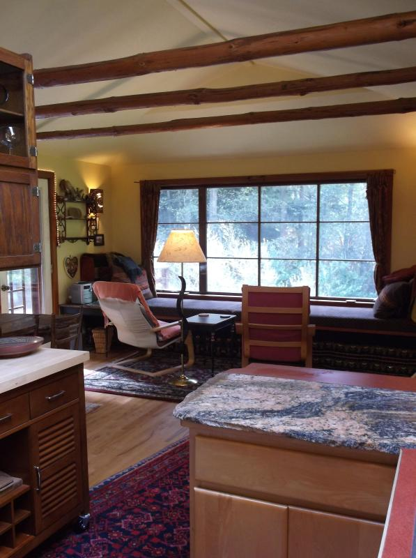 Kitchen into living room - Small Private Whidbey Island House - Freeland - rentals