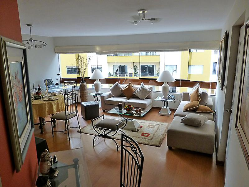 Living room you see when coming out from bedrooms area - Top Class Apartment in Miraflores (Lima-Peru) - Lima - rentals