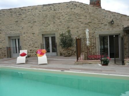 Exterior Stone and swimming-pool - Elegant house  with swimming-pool in Carcassonne - Carcassonne - rentals
