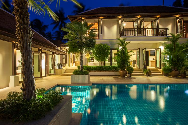 Pool Area @ Night - Villa Sasa - Close to the Beach, Perfect Location - Koh Samui - rentals