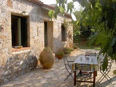 Front Door - Stone Bungalow Stoupa Greece. 100m From Sand Beach - Stoupa - rentals