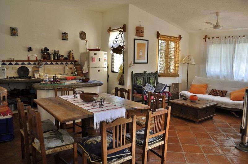 comedor sala cocina - Gardenia hosue for 2/4 pax 1 next to Fifth avenue - Playa del Carmen - rentals