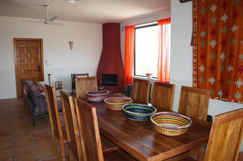 Spacious Indoor Dining lounge - El Chaparro Retreat Spain - Boutique Villa Rental - Loja - rentals