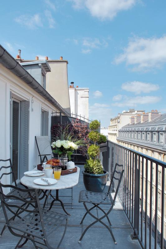 View of the Terrace - Saint Germain Two Bedroom with Terrace - Paris - rentals