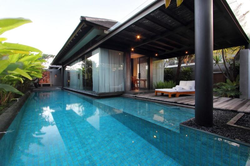Large private swimming pool - Luxury Romantic Pool Villa near Seminyak Kerobokan - Seminyak - rentals
