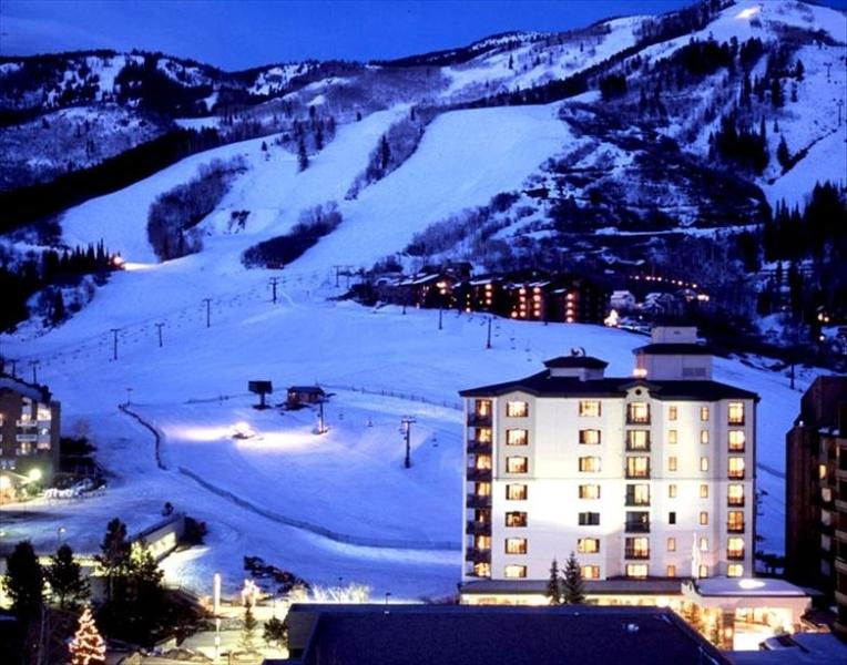 Condo Tower with ski slopes in background - Sheraton Steamboat Ski-in/Ski-out Resort Villa - Steamboat Springs - rentals