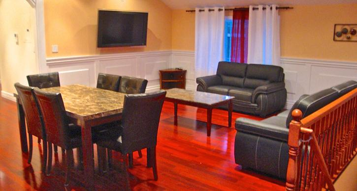 Dining room and living room - Brand New Deluxe Vacation house for Rent in NY - College Point - rentals