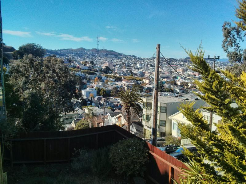 View from back deck - 2BR Apt on beautiful hilltop, easy street parking - San Francisco - rentals